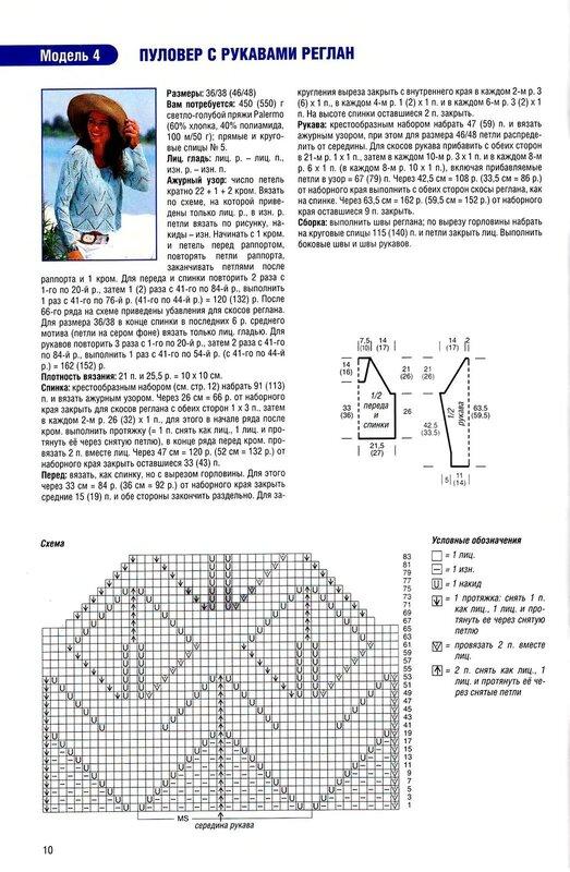 Вязание кофты регланом 87