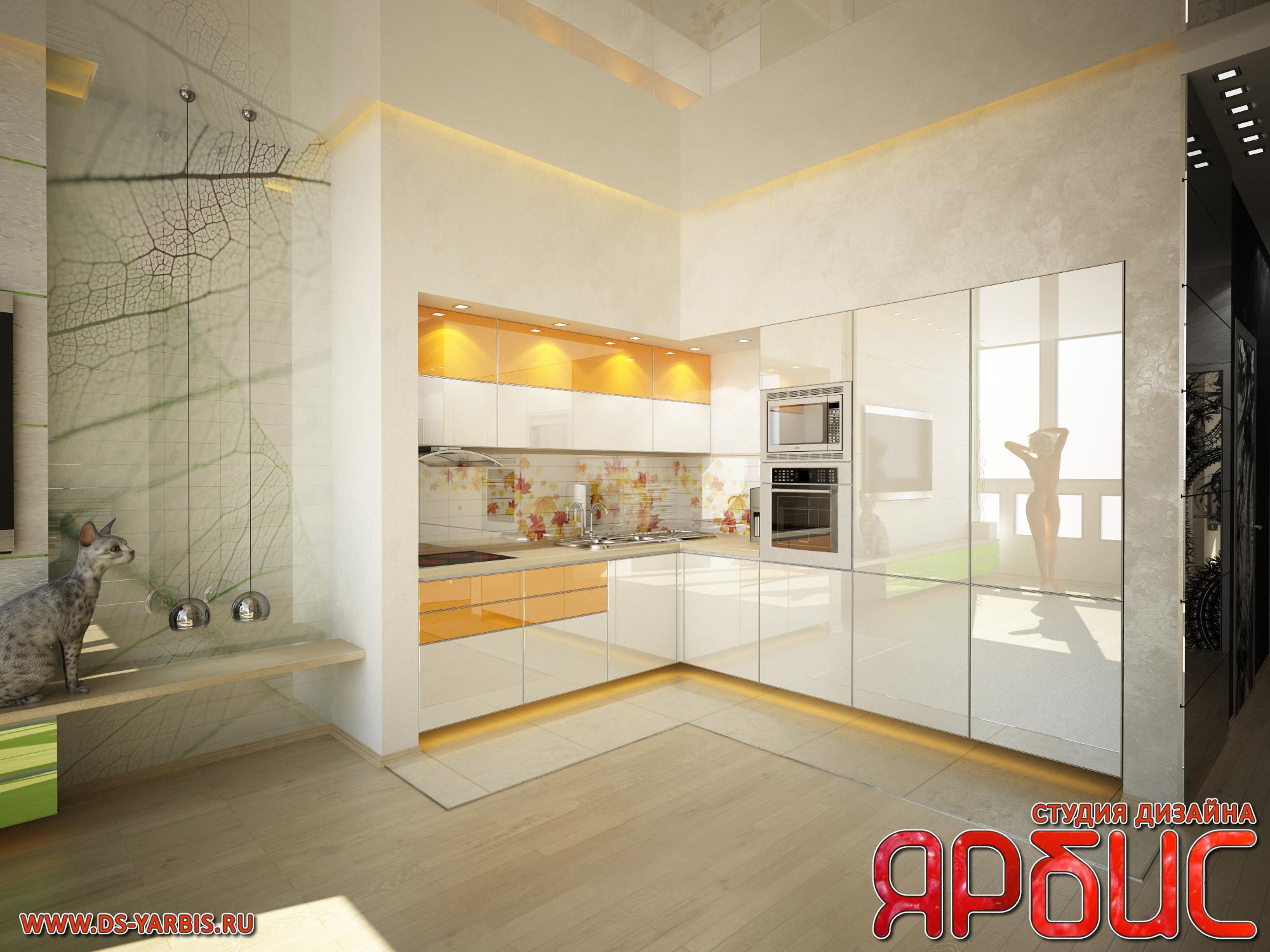 Дизайн-проект квартиры-студии в стиле минимализм