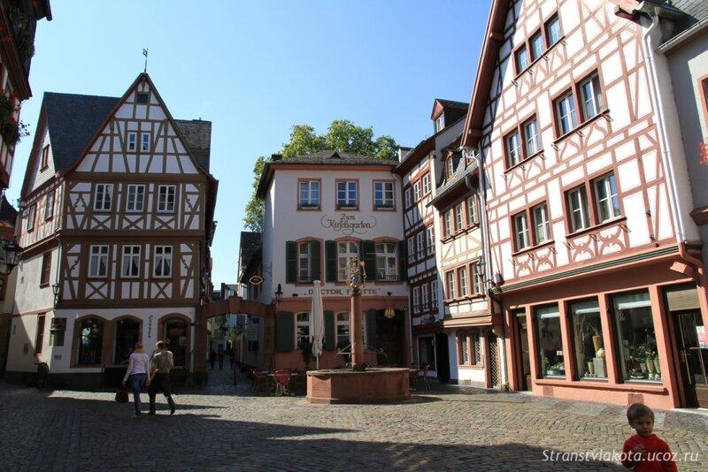 Германия, Майнц, фахверковые дома