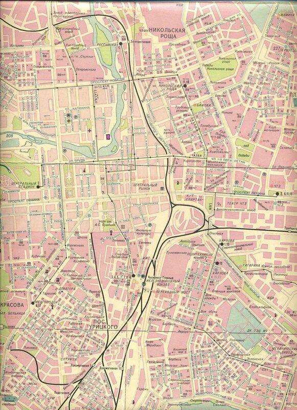 Фрагмент карты 1991 г.