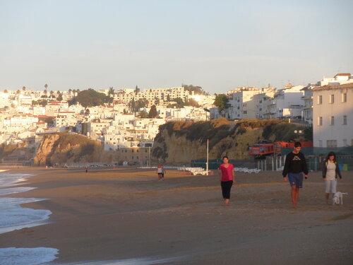 Раннее утро. Пляж Альбуфейра.