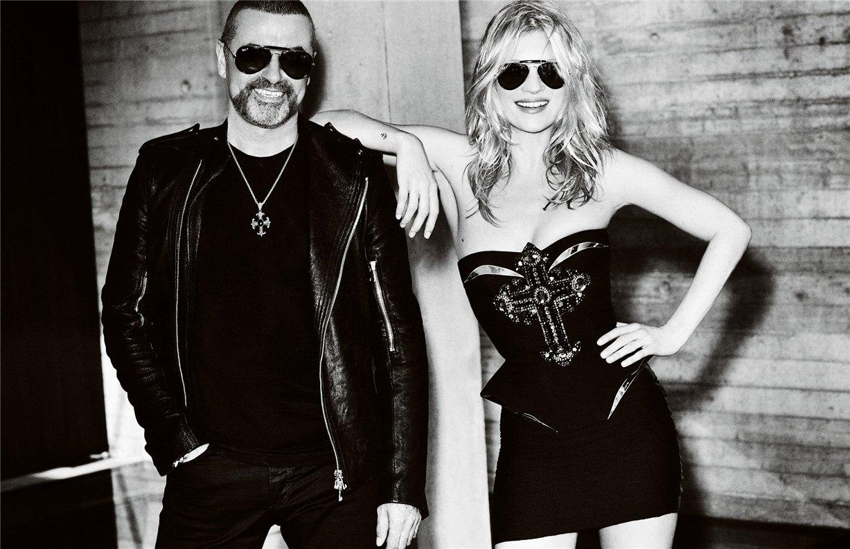 Kate Moss and George Michael / Кейт Мосс и Джордж Майкл, фотограф Mario Testino в журнале Vogue Paris, октябрь 2012