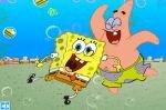 Патрик и Губка Боб собирают крастбургеры