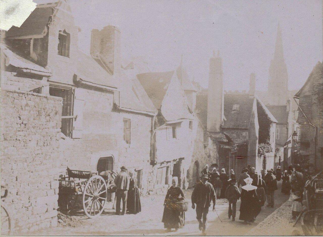 1900. Кемпер. Уличная сцена