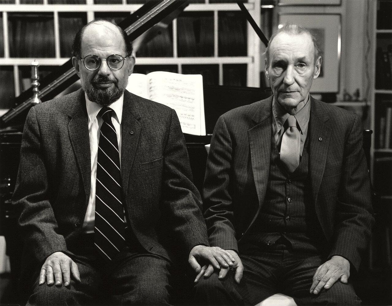 1984. Аллен Гинзберг (поэт) и Уильям Сьюард Берроуз (писатель)