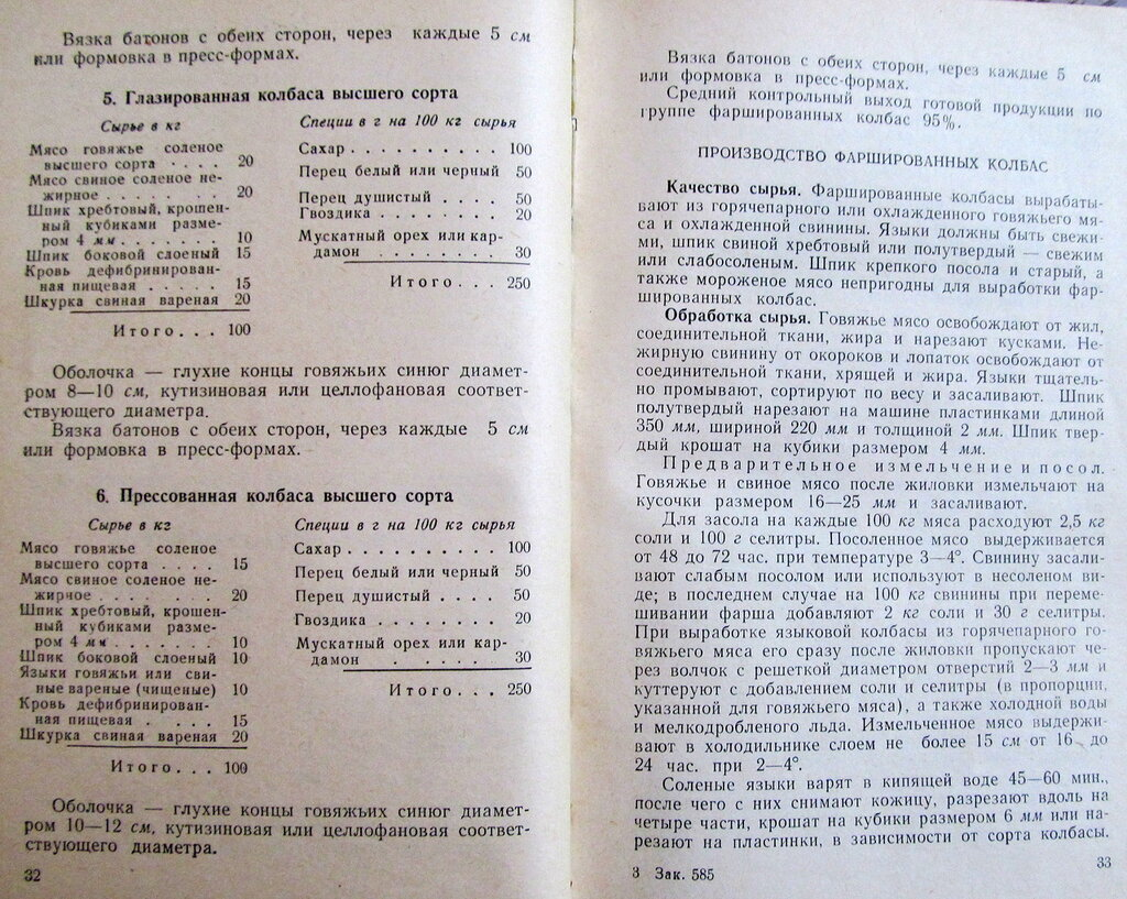 колбаса русская рецептура