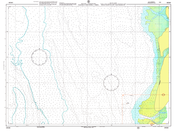 Подходы к реке Шойна с севера - морские навигационные карты на lenv.ru