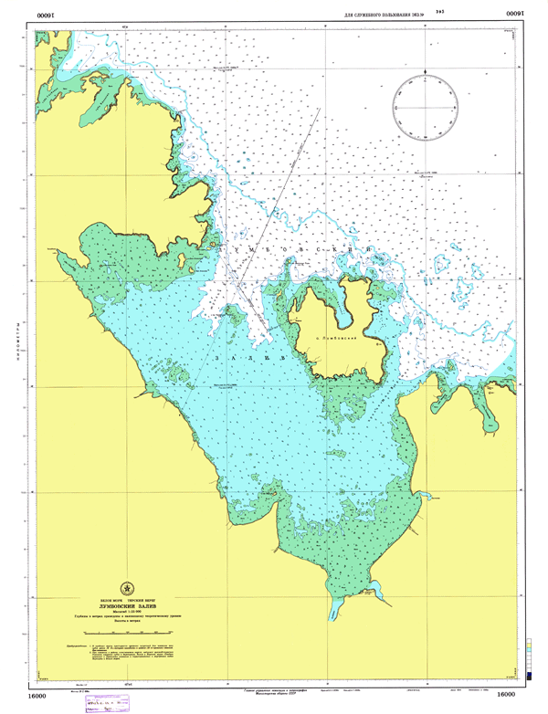 Лумбовский залив - морские навигационные карты на lenv.ru