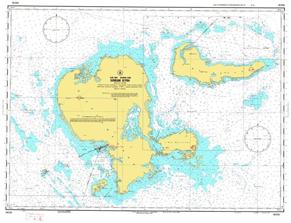 Соловецкие острова - морские навигационные карты на lenv.ru