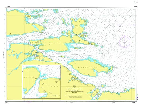 Подходы к губам Чупа и Кереть - морские навигационные карты на lenv.ru