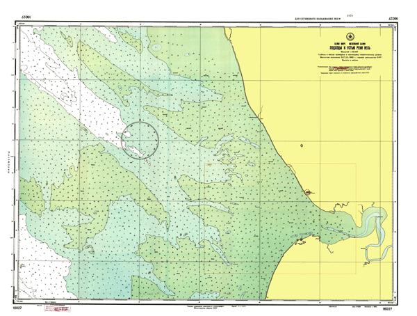 Подходы к устью реки Несь - морские навигационные карты на lenv.ru
