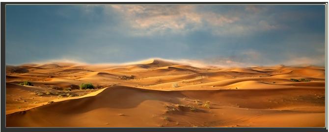 ОАЭ. Desert landscape. Blue sky. UAE. Фото Maryna Fatseyeva - Depositphotos