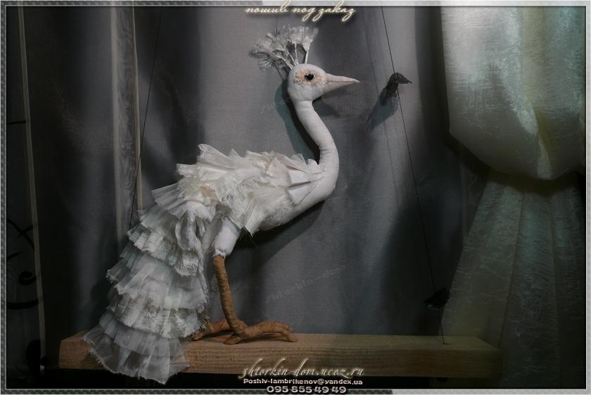 птица текстильная павлин