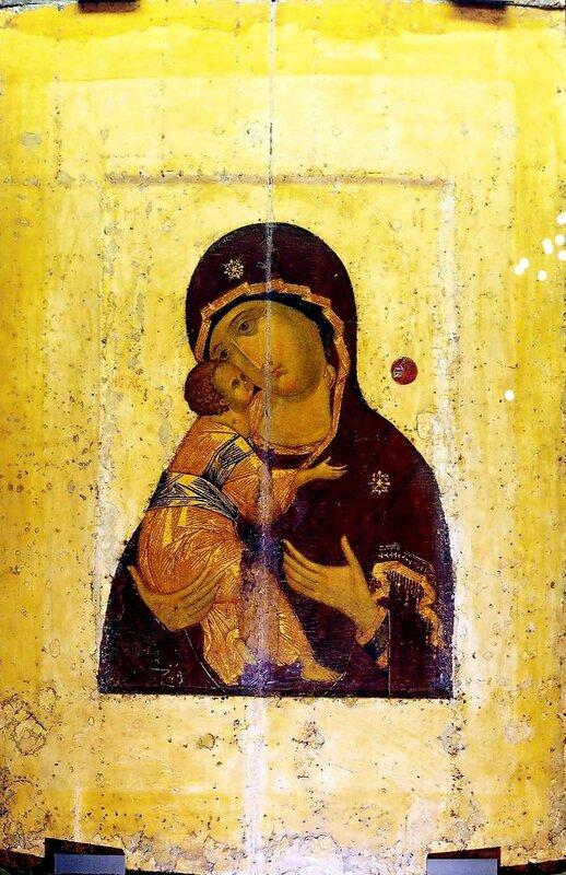 Владимирская икона Божией Матери. XV век.