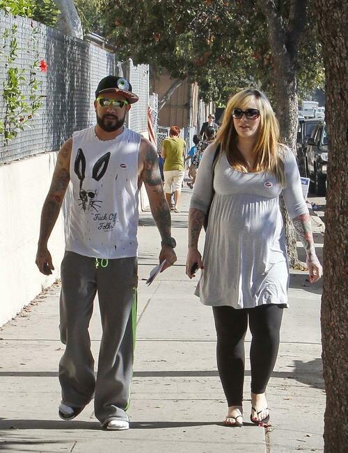 Солист Backstreet Boys Эй Джей МакЛин со своей женой