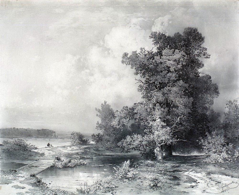 Вид в селе Кунцеве под Москвой. 1855.jpg