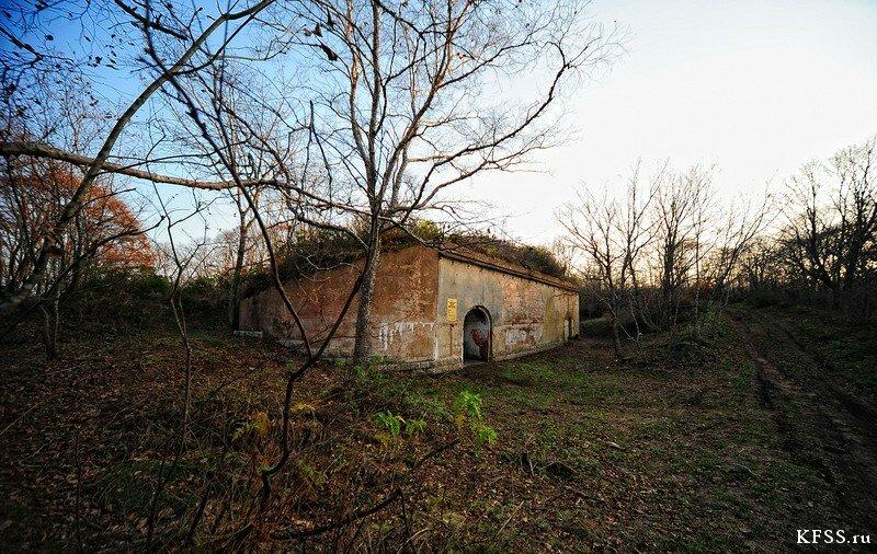 Форт №12 Владивостокской крепости, убежище для выкатных орудий
