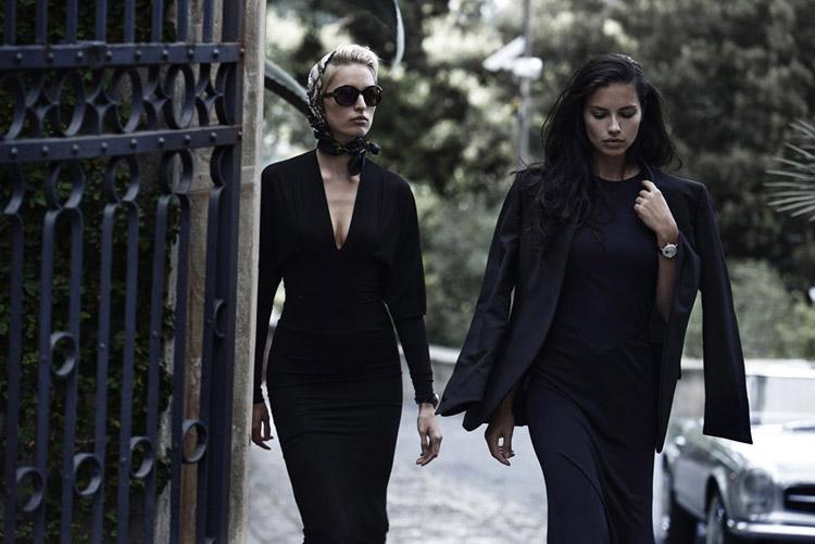 Адриана Лима (Adriana Lima) и Каролина Куркова (Karolina Kurkova) в рекламной фотосессии для IWC