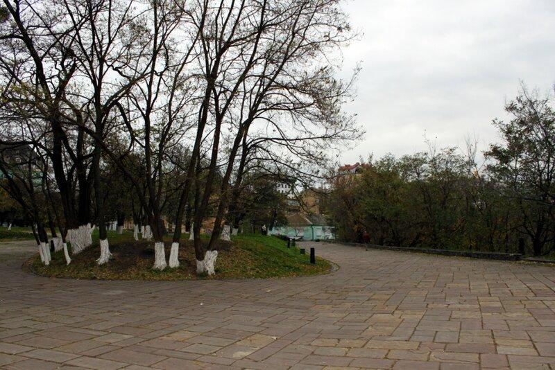 Участок парка на Пейзажной аллее