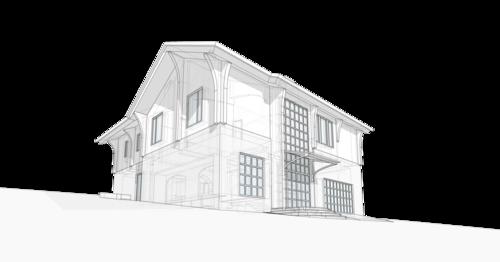Дом в швейцарском стиле, двухэтажный дом 10 спальных мест, с встроенным гаражом.