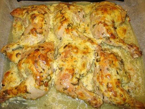 Окорочка в духовке с сыром рецепт с фото