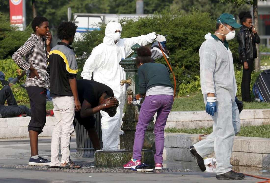 Ж/д вокзал итальянского Милана превратился в бомжатник: Миграционная политика ЕС (1)