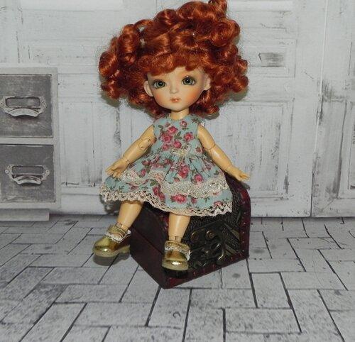 Выкройки платья для куклы бжд