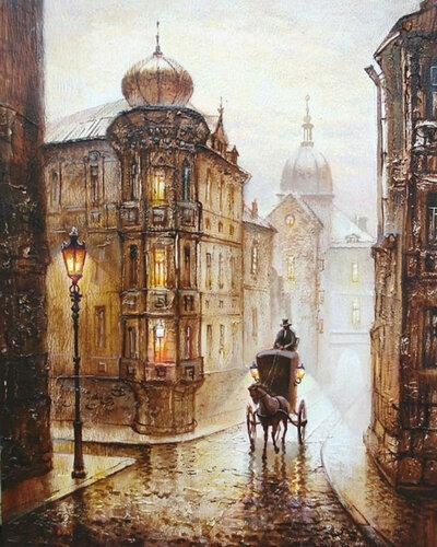 Дождливый Город . Картинки для
