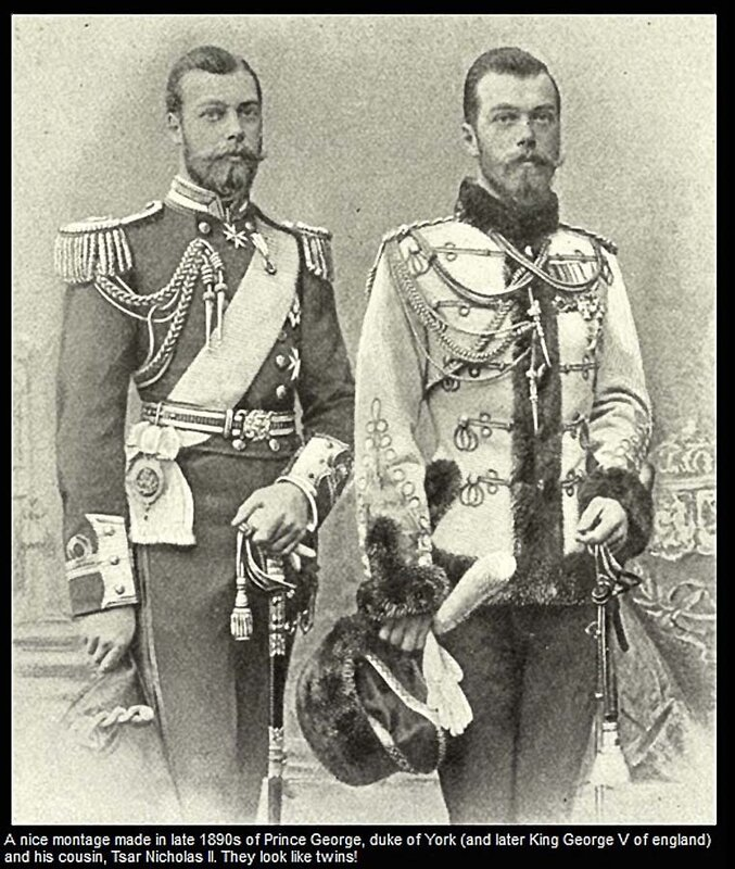 George V & Nicolas II, montage made in late 1890s (2)