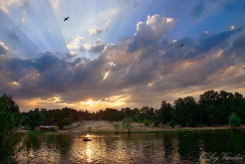 Воскресный вечер, парк Кузьминки
