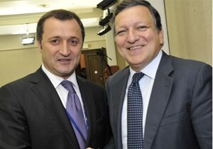 Встреча Жозе Мануэля Баррозу с Николаем Тимофти