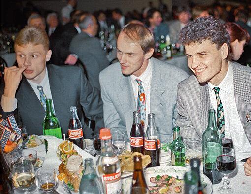 Валерий Карпин, Виктор Онопко и Юрий Никифоров