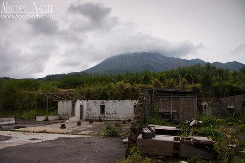 вулкан Мерапи, остров Ява, Индонезия