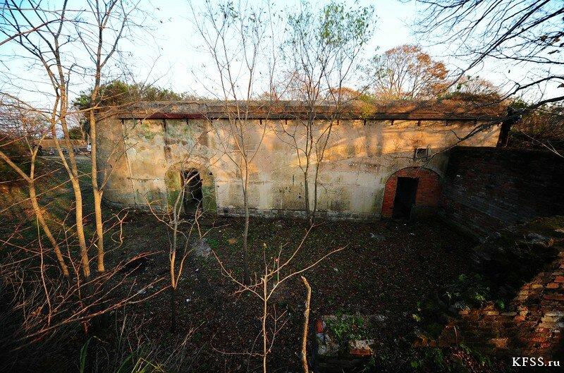 Форт №12 Владивостокской крепости kfss убежище для выкатных пушек левого люнета