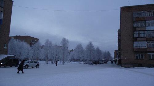 Фото города Инта №2190  Мира 35, 31, 29 и 33 (мороз -15 и небольшой туман) 26.11.2012_13:26