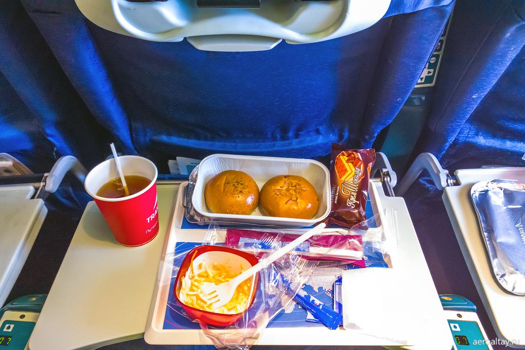 Бортовое питание на рейсе Трансаэро Анталия-Москва