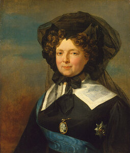 Портрет императрицы Марии Федоровны в трауре. Дж. Доу, между 1825-1827.