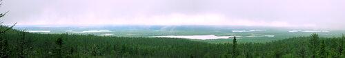 Карелия. Вид с горы Воттаваара. июль 2012г.