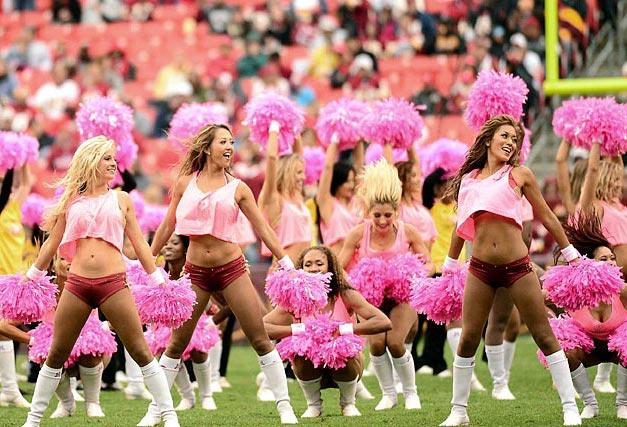 Washington Redskins - cheerleaders nfl october 2012 / девушки из групп поддержки в американском футболе