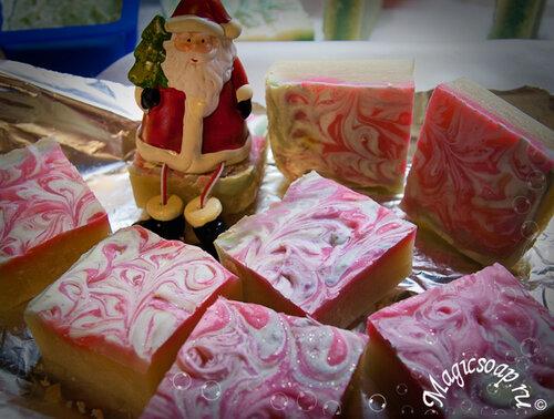 новогоднее мыло с нуля, мыло к новому году своими руками, новогодние поделки, мыло для ног, мыло с пемзой