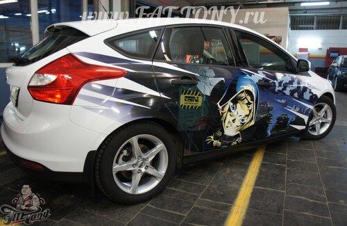 фото окленных авто с рисунком