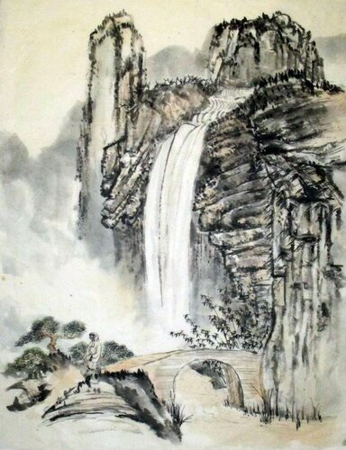 2014 07 02 Любуясь водопадом 62х46см - копия.JPG