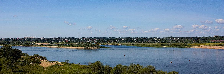 Река Ока в городе Муром