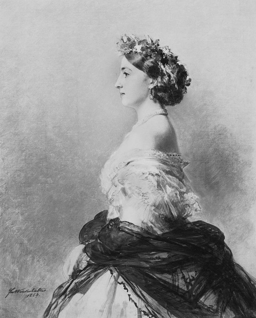 Луиза, герцогиня Манчестер (1832-1911)  Подпись и дата 1859