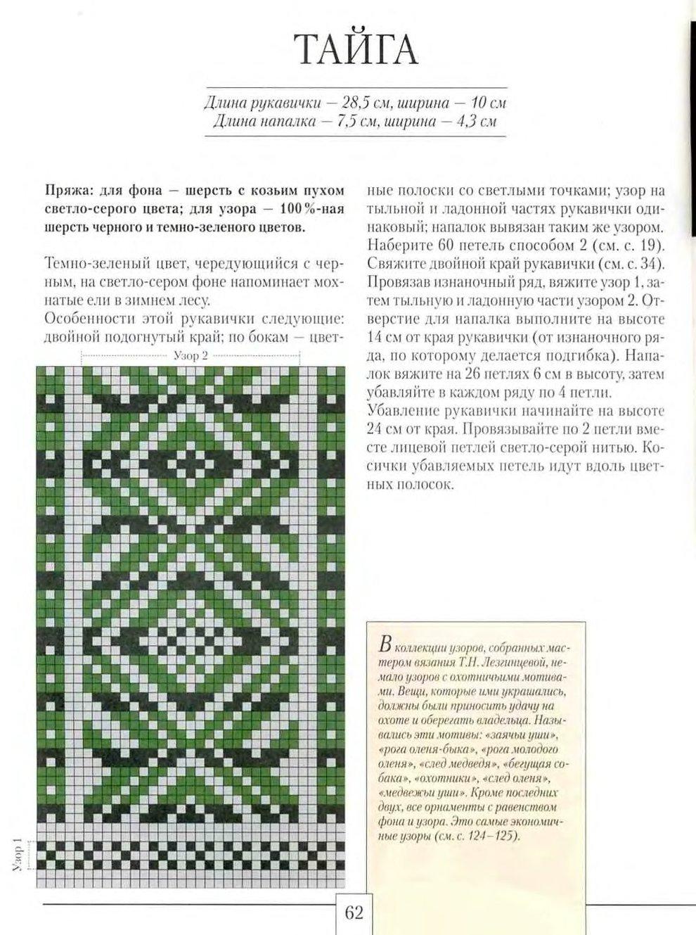 Узоры для вязания на варежках 133