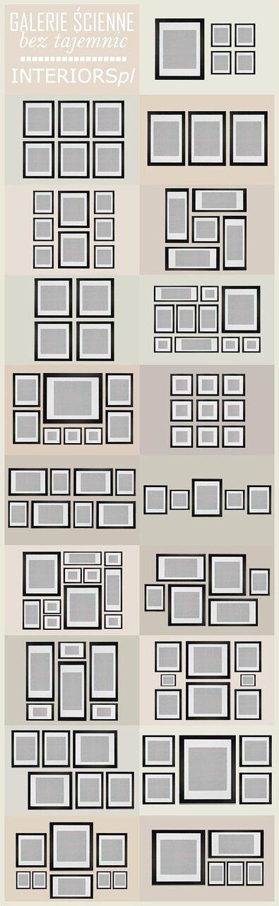комментариев. просмотров: 9. 0. Схемы помогающие правильно развесить картины либо фотографии дома.