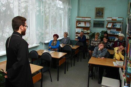 Библиотелка им Каверина, о.Максим Воронцов