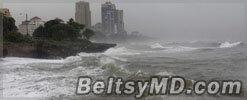 Ураган «Сэнди» продолжает бушевать