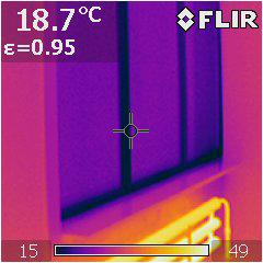 алюминиевое окно тепловизор.