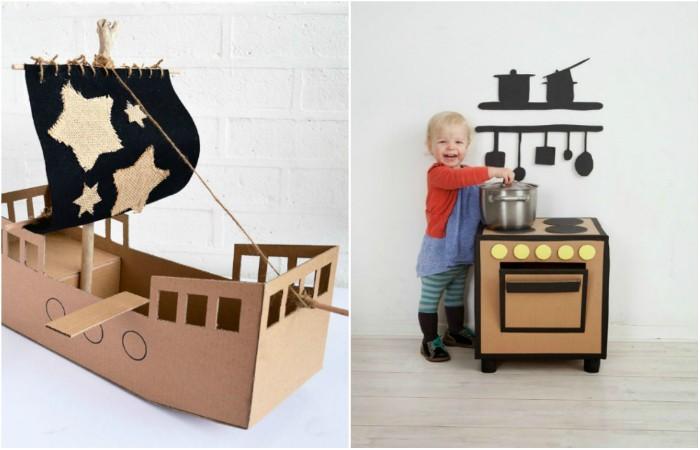 Способы превратить старый картон в отличные детские игрушки